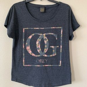 OBEY floral womens t shirt